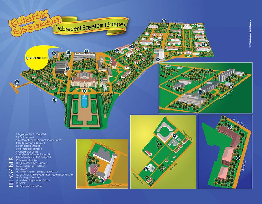 debrecen csapókert térkép Térkép   Kutatók Éjszakája Debreceni Egyetem debrecen csapókert térkép